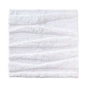 Biela kúpeľňová predložka Zone Flow, 65 x 65 cm