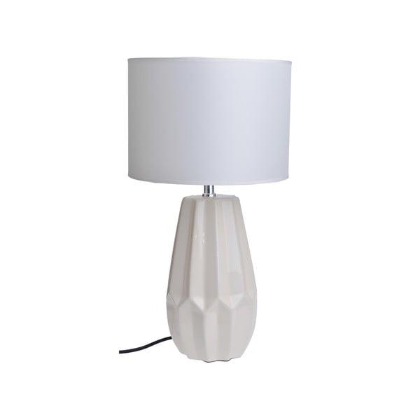 Stolová lampa Ceramic Foot, biela