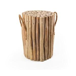 Stolička z teakového dreva s úchytmi Moycor Marsella