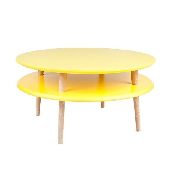 Žltý konferenčný stolík Ragaba UFO,Ø70cm