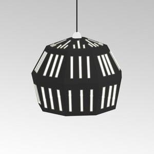 Kartónové svietidlo Uno Fantasia C Black, s čiernym káblom