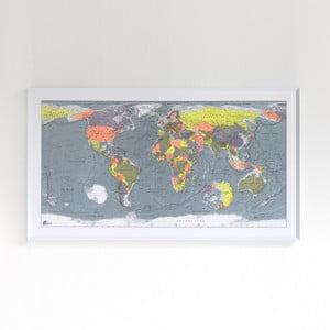 Mapa sveta v priehľadnom puzdre The Future Mapping Company Classic World Map, 130×72cm