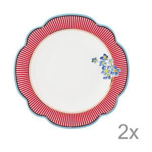 Porcelánový hlboký tanier Happy od Lisbeth Dahl, 24 cm, 2 ks