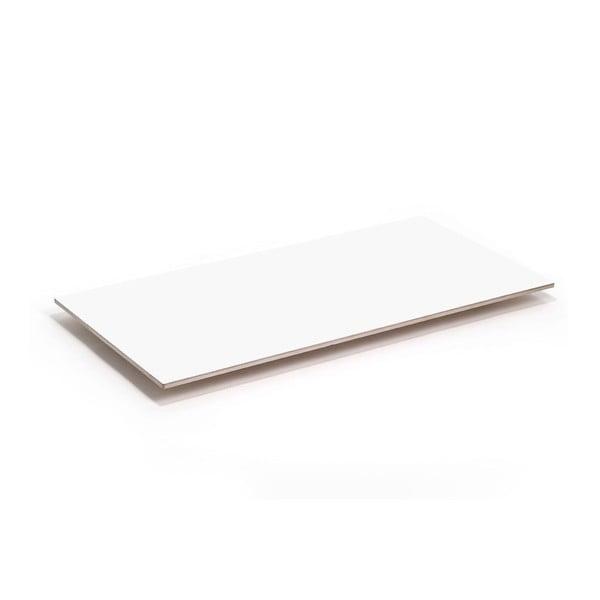 Biela doska k nohám stolu Flat 150x75 cm, biela