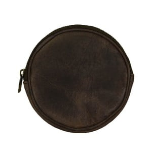 Tmavohnedá kožená listová kabelka O My Bag Luna