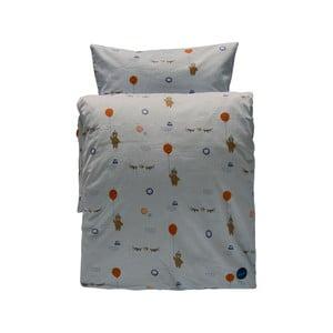 Set sivej detskej obliečky na paplón a vankúš z organickej bavlny OYOY Happy Circus, 200 × 140 cm