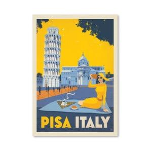 Plagát Americanflat Pisa, 42 x 30 cm