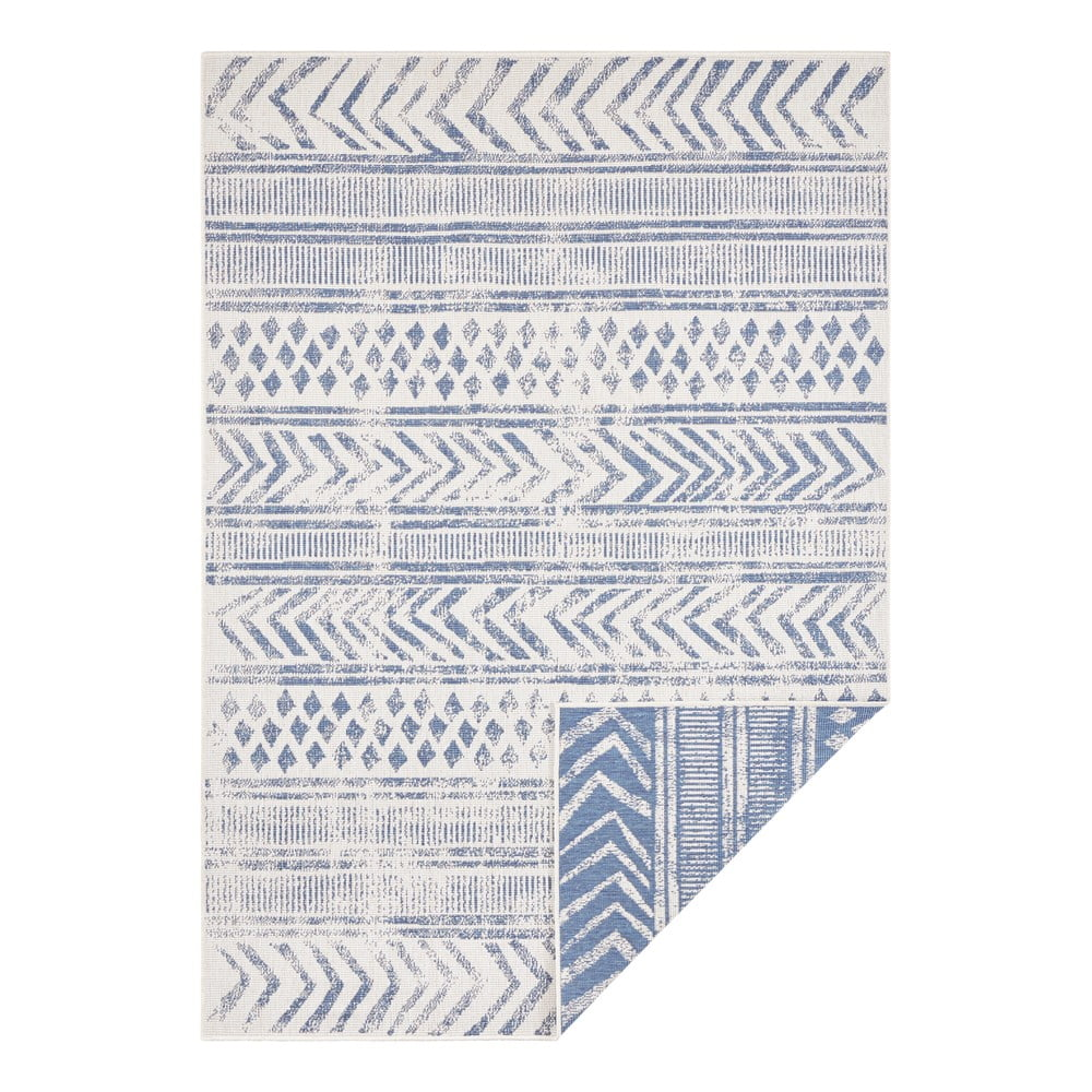 Modro-krémový vonkajší koberec Bougari Biri, 200 x 290 cm