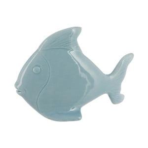 Keramický dekoratívny objekt Fish In Light Blue, 17x13 cm