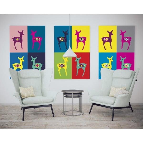 Plagát Srnky Warhol pastel, malý