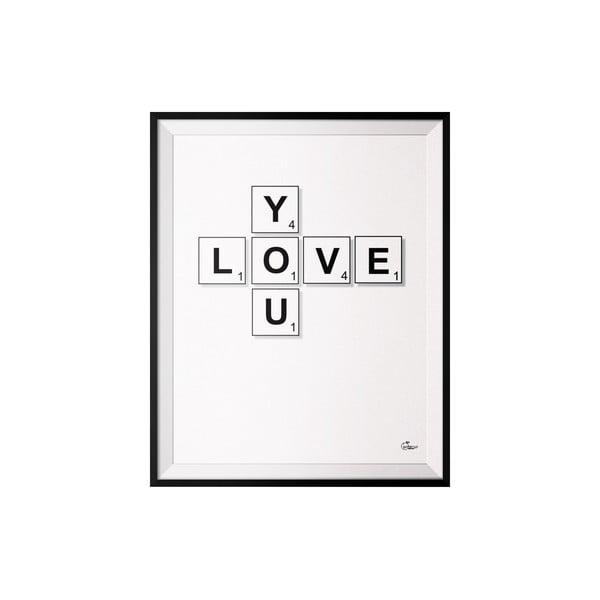 Plagát Scrabble, 50x70 cm