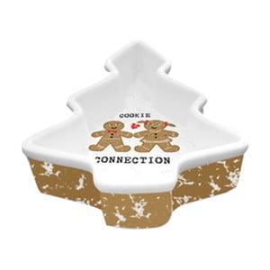 Porcelánová dekoratívna misa s vianočným motívom PPD Cookie Connection