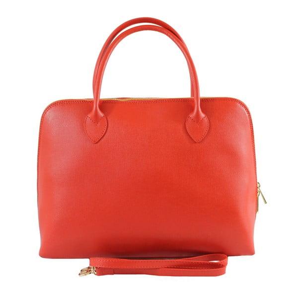 Červená kožená kabelka Jenna