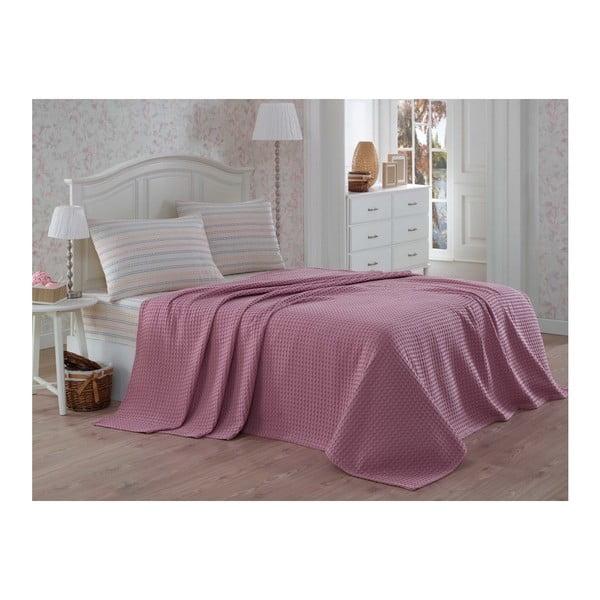 Set bavlneného plédu na jednolôžko s plachtou a obliečkou na vankúš Rosso, 160 × 230 cm