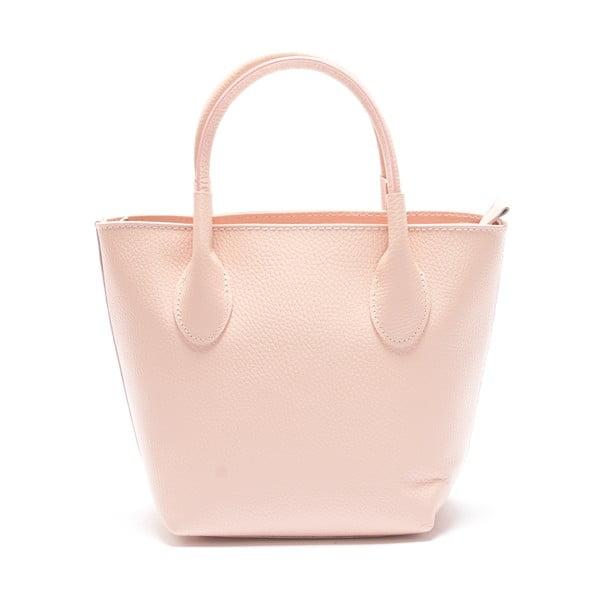 Kožená kabelka Carlota, ružová
