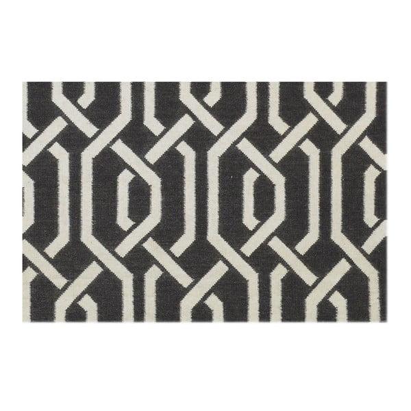 Vlnený koberec Camila tmavo šedý, 140x200 cm