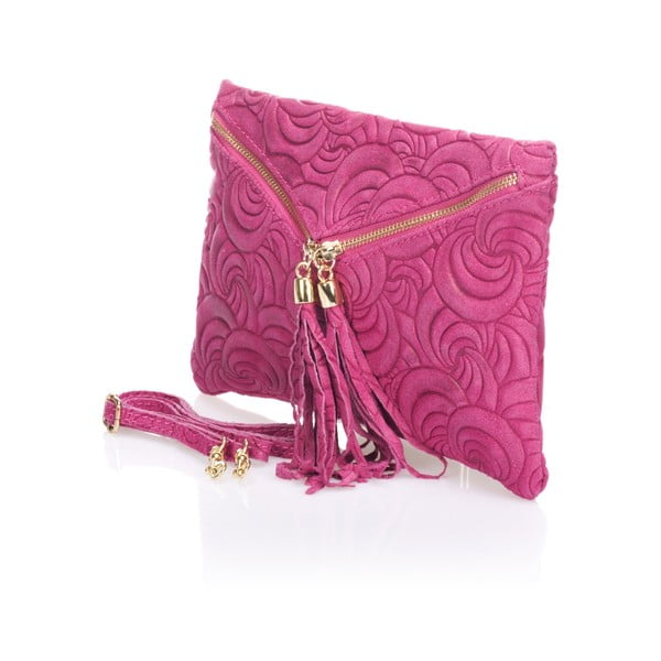 Kožená listová kabelka Flaire, ružová