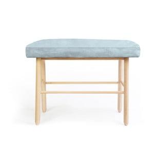 Stolička z borovicového dreva ze zamatovým poťahom Velvet Atelier Sando