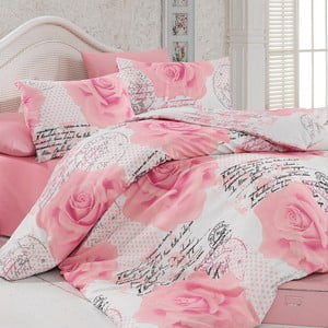 Sada obliečok a prestieradla Pink Roses, 200x220 cm