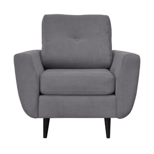 Sivé kreslo s tmavými nohami Mazzini Sofas Cedar