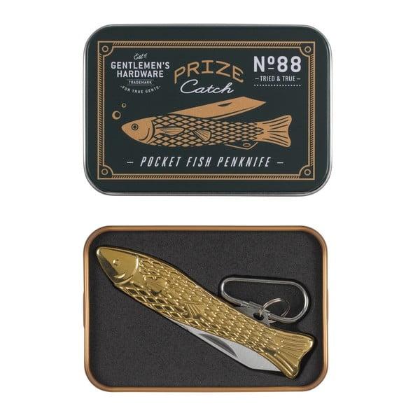 Nožík v tvare rybičky v zlatej farbe Gentlemen's Hardware
