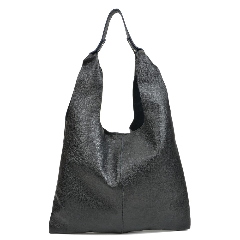 Čierna dámska kožená kabelka Sofia Cardon