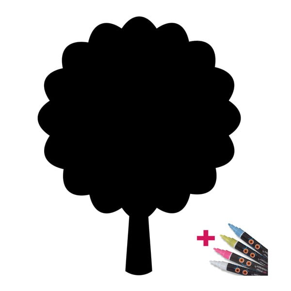 Set popisovacej samolepky a 4 fixiek Fanastick Tree