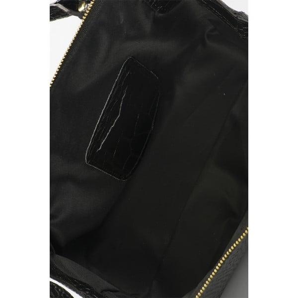 Čierna kožená kabelka Lisa Minardi Luciano