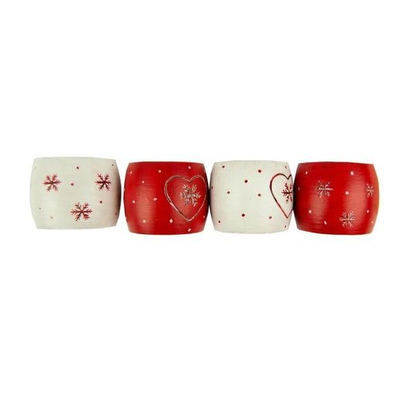 Sada 12 krúžkov na obrúsky Antic Line Snowflakes