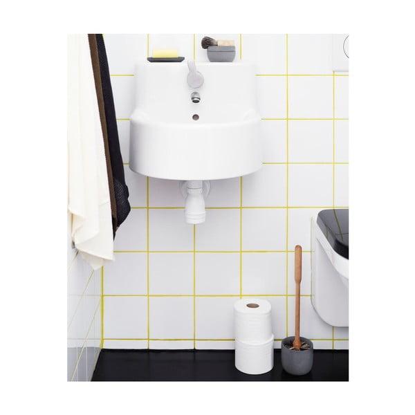 Toaletná kefa s miskou z hnedého betónu Iris Hantverk