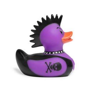 Kačička do vane Bud Ducks Mini Punk Rocker Purple