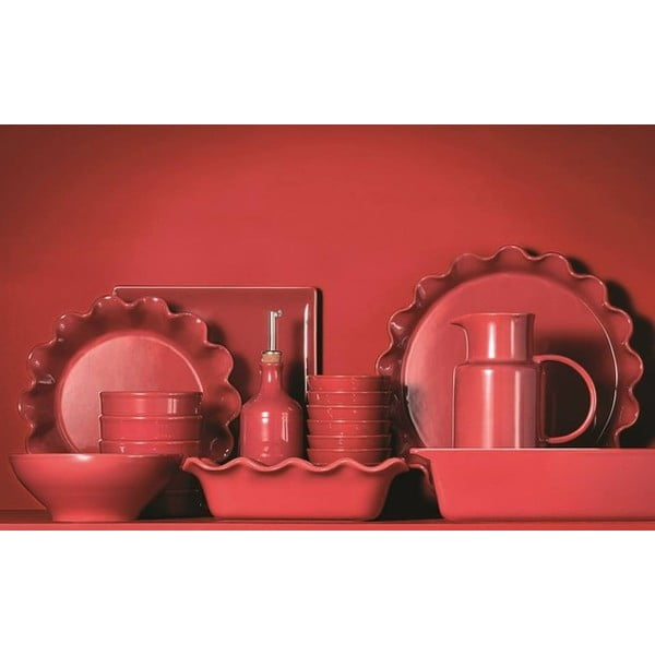 Červený pekáč na lasagne Emile Henry, 35x25 cm