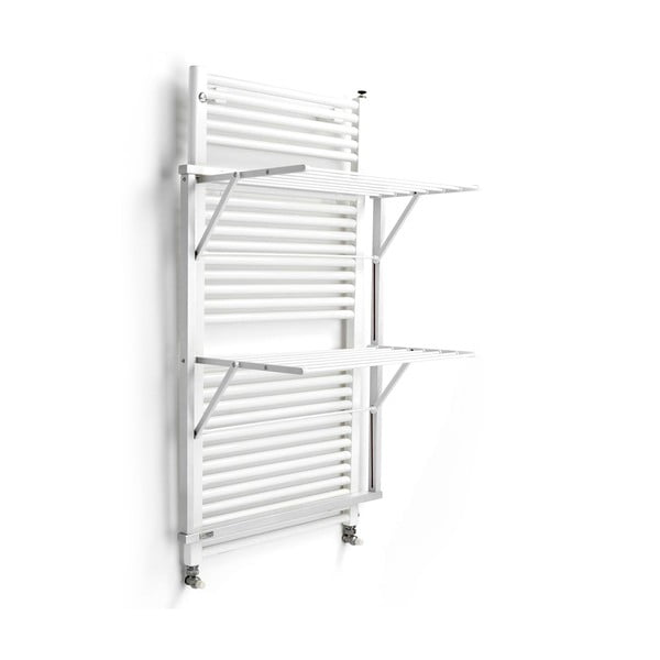 Biely sušiak na bielizeň z bukového dreva na rebríkové kúrenie Arredamenti Italia