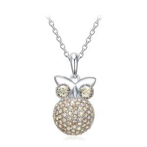 Náhrdelník s krištáľmi Swarovski Elements Crystals Owl