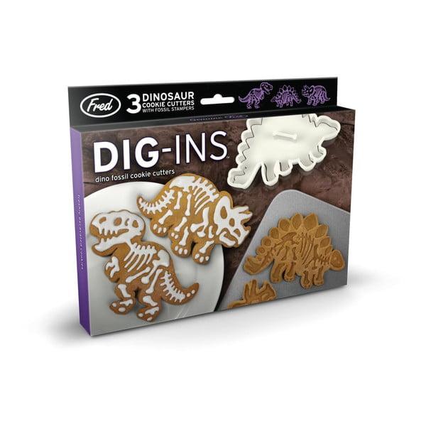 Sada 3 formičiek s razítkami na sušienky Fred & Friends Dig-Ins