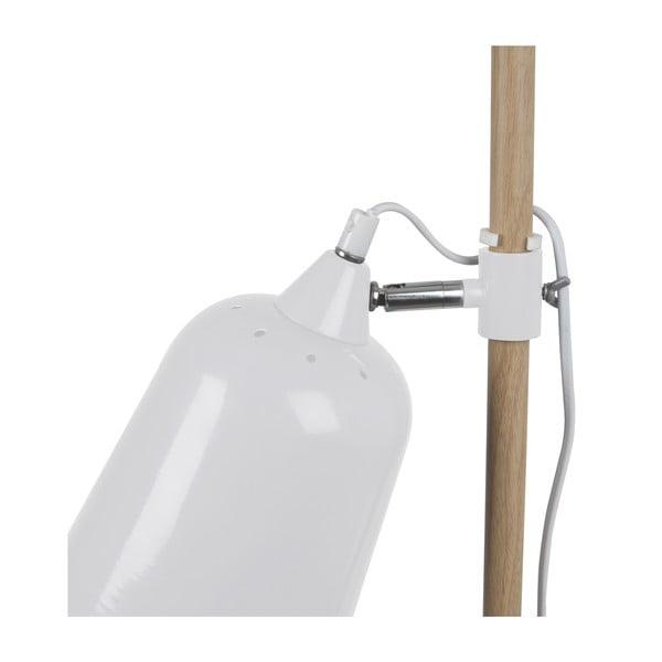 Biela stolová lampa Leitmotiv Wood