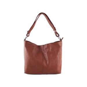 Hnedá kabelka z pravej kože GIANRO  Connect 6596aa5ae7c