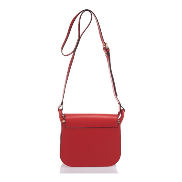Červená kožená kabelka Lisa Minardi Bycast