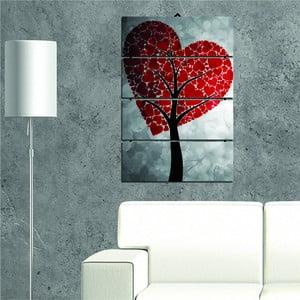 Viacdielny nástenný obraz Heart Tree, 34 × 55 cm