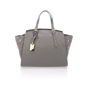 Sivá kožená kabelka Giulia Massari Ferrara