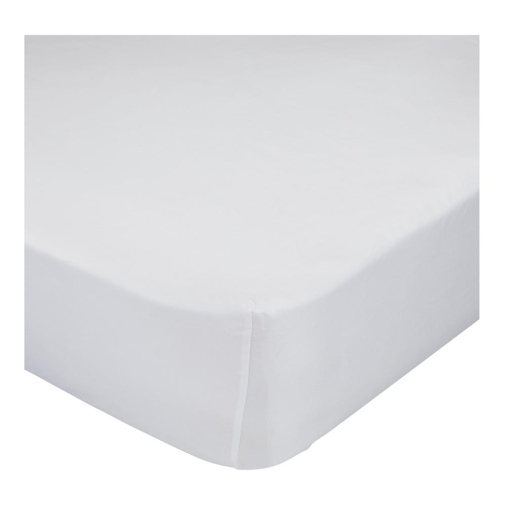 Biela bavlnená elastická plachta Happy Friday Basic, 70 x 140 cm
