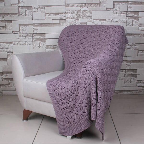 Fialová bavlnená deka Ciana