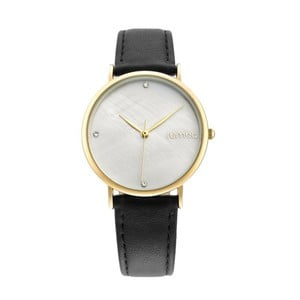 Dámske čierne hodinky s koženým remienkom Rumbatime Lafayette