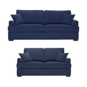 Dvojdielna sedacia súprava Jalouse Maison Irina, námornická modrá