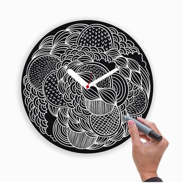 Nástenné hodiny Draw Up Wall Black