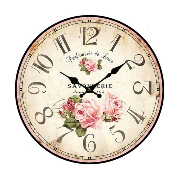 Veľké nástenné hodiny Bolzonella Rose