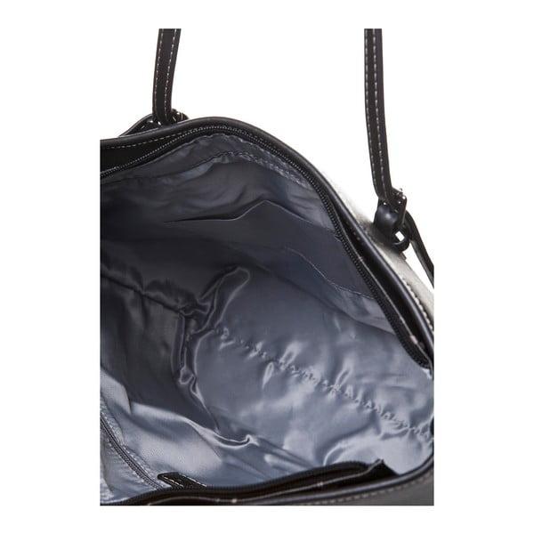 Kožená kabelka cez rameno Canguru Tag, čierna