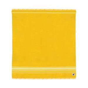 Žltá osuška Origama Flat Seat, 200x200cm