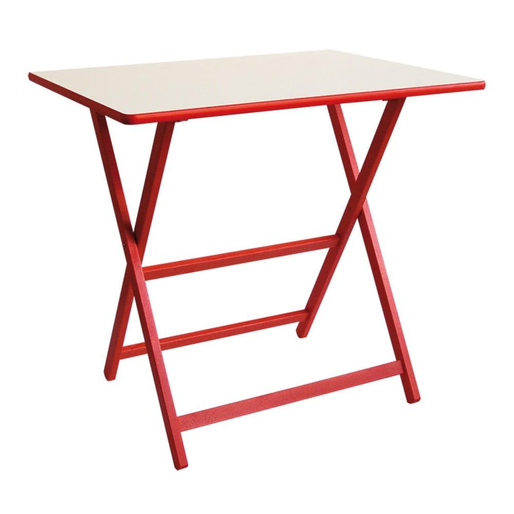 Červený drevený skladací stôl Valdomo Papillon, 60 x 80 cm