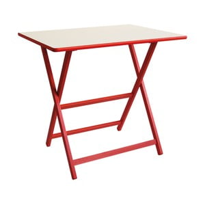 Červený drevený skladací stôl Valdomo Papillon, 60×80 cm